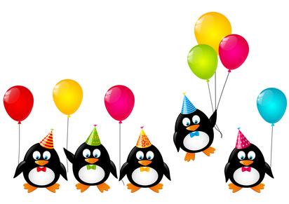animaciones infantiles para cumpleaños y comuniones. pingüinos con globos